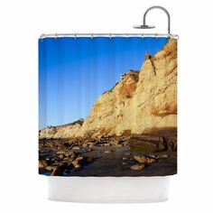 East Urban Home Beach Cliffside Rocks by Nick Nareshni Shower Curtain