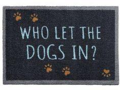 Tierische FußmattenPREMIUM Hunde Fußmatte: Dogs In - 50 x 75 cm…