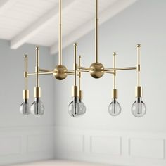 Dining Light Fixtures, Dining Lighting, Kitchen Island Lighting, Overhead Lighting, Lighting Ideas, Linear Chandelier, Contemporary Chandelier, Chandelier Lighting, Chandelier Ideas