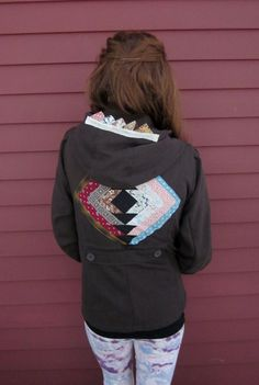 Brown/Colorful Patchwork Quilt Square Star by MountainGirlClothing