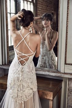 sexy corset style wedding dress back from Grace Loves Lace