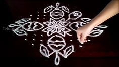 Rangoli Designs With Dots, Rangoli With Dots, Kolam Designs, Flowers, Cards, Youtube, Maps, Royal Icing Flowers, Playing Cards