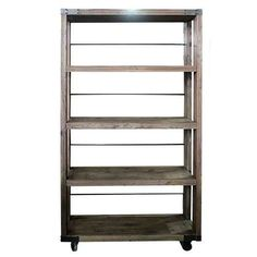 Constructed from Reclaimed Timber, this rustic Industrial Bookcase offers 4 open shelves with plenty of room for displaying your books and favourite ornaments.