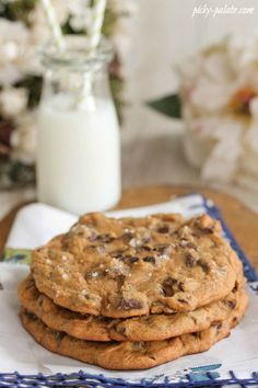 Giant Salted Pumpkin Molasses Chocolate Chunk Cookies
