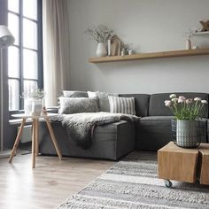 Lovely Nordic Living Room Design Ideas - Page 44 of 45 Modern Minimalist Living Room, Living Room Modern, Living Room Designs, Living Room Decor, Nordic Living Room, Nordic Style, Living Room Inspiration, Home Decor, Beautiful Decoration