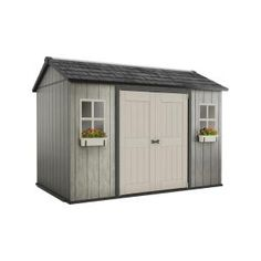 Keter My Shed 11 ft. x 7.5 ft. Fully Customizable Storage Shed 230365 at The Home Depot - Mobile