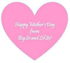 Sister Mother Day Personalised Heart Word Art Print Gift Mum Nanna