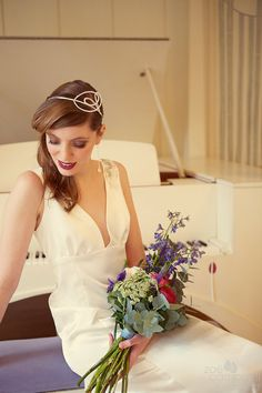 Long and Simple Wedding Dress by flossyanddossy on Etsy, £350.00