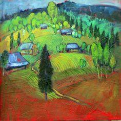 Miroslav Bucher olej 70x70Portret zeme-Na konci svetaViac na www.bucher.miro-webnode.sk Miro, Painting, Painting Art, Paintings, Paint, Draw