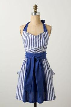 Stripes Abound Apron...why does your apron need to look like an apron..Anthropologie I think I love you!!!