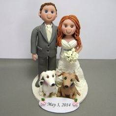 Deposit For A Custom Made Polymer Clay Wedding Cake Topper My Toppers Start At 120