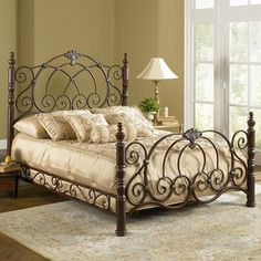 Strathmore Metal Bed - mediterranean - beds - atlanta - Iron Accents