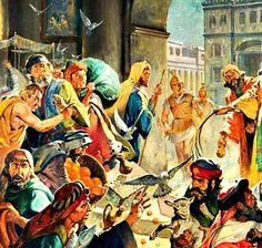 """November 20th - Luke 19:45-48: Jesus entered the temple area and proceeded to drive out those who were selling things, saying to them, """"It is written, My house shall be a house of prayer, but you have made it a den of thieves."""" And every day he was teaching in the temple area. The chief priests, the scribes, and the leaders of the people, meanwhile, were seeking to put him to death, but they could find no way to accomplish their purpose because all the people were hanging on his words."""