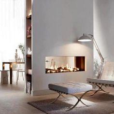 Fireplace room divider