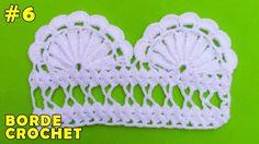 Borde #6 para Colchas o Manteles tejido a crochet paso a paso