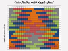 Planned Color Pooling with long color changing variegated yarn | It's all in a Nutshell