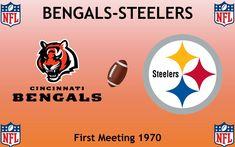 1970, National Football League (1st BENGALS-STEELERS), Cincinnati Bengals < > Pittsburgh Steelers #Bengals #Steelers #NFL (L24332) Football Rivalries, Sports Logos, Logo Design