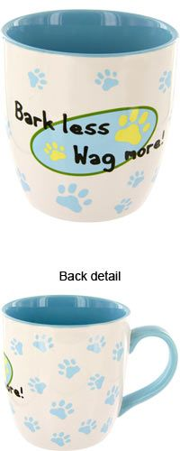Bark Less Wag More Mug at The Animal Rescue Site https://theanimalrescuesite.greatergood.com