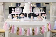 Tassle garland in your choice of colors for your wedding bridal shower birthday tea party cake table dessert table candy bar