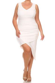 215995184d7 Plus Size Sexy Solid Body-con Sleeveless Dress – Plussizefix.com Body Con