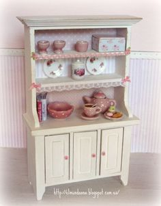 Cupboard with Accessories . Scale 1.12  dollhouses