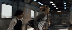 "When Christina and Tris jump off the train onto the roof. | The 24 Most Exciting Moments From The Final ""Divergent"" Trailer"