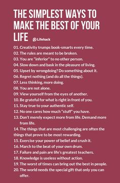 The Simplest Ways to Make The Best of Your Life