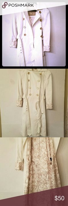 New Guess Peacoat New never worn White Peacoat with gold buttons! Coat still in plastic cover from store.  Not sure what happened to tags.  Amazingly adorable!  Has hung in my closet for over a year and I can't fit it now! Offers welcome! Guess Jackets & Coats Pea Coats