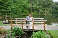 Love this romantic bridge shot! Candace   Kevin // A Colorful, Earthy #aldridgegardens Wedding