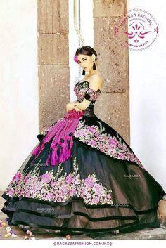 #Quinceanera Dress mariachi (notitle) Xv Dresses, Ball Dresses, Ball Gowns, Prom Dresses, Quince Dresses Mexican, 18th Birthday Dress, Charro Dresses, Mexican Quinceanera Dresses, Vestido Charro