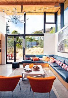 Decor / Mood:  Layering Colors @ Banquette Stinson Beach House by WA Design / Ca