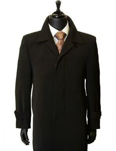 #xmas #Christmas #MensUSA - #MensUSA Men's All Weather Microfiber Gaberdine Trendy Classic Trench Top Coat Black - AdoreWe.com