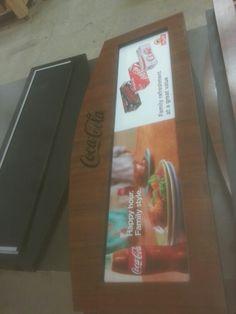 Coca cola sign.