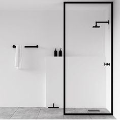 Scandinavian bathroom, minimalist bathroom, white and black bathroom Minimalist Bathroom Design, Minimalist Interior, Minimalist Decor, Minimal Bathroom, Design Bathroom, Bathroom Trends, Bath Design, Minimal Home Design, Minimalist Design