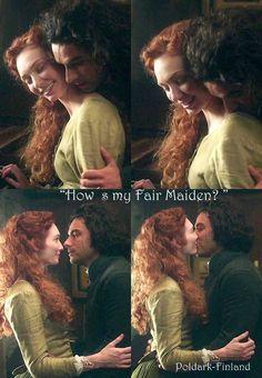 """How's my Fair Maiden?"" - Ross and Demelza #Poldark (by Poldark-Finland)"