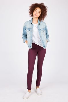 Girls Low Rise Jegging Taylor in Wine