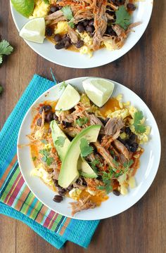 Spicy Shredded Pork Breakfast Tostadas 2 - BoulderLocavore.com