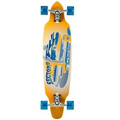 Sector 9 Tempest Complete Skateboard Yellow 360 x 91 x 226Inch * Click image for more details.