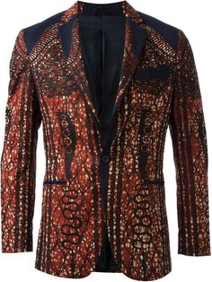 Dent De Man Ethnic Print Blazer | Jacket, Coat and Clothing