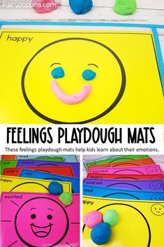 Feelings and Emotions Playdough Mats (Early Childhood & Special Needs)