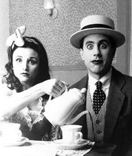 Really cute! Julia Louis-Dreyfus and Jerry Seinfeld.