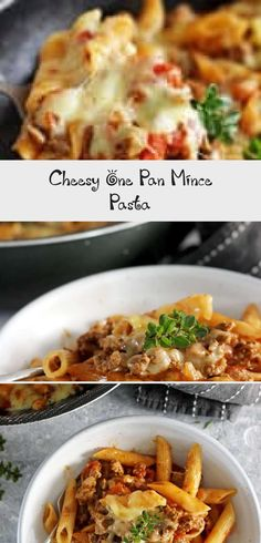 This easy, cheesy one pan mince pasta is going to be your new go-to quick weeknight meal. 30 minutes from start to finish and everything (including the pasta) is cooked in one pan! Pasta Recipes For Kids, Easy Dinner Recipes, Quick Weeknight Meals, Easy Meals, Family Meals, Kids Meals, Easy Spaghetti Bolognese, Mince Recipes