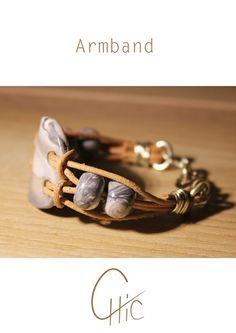 Armband Lederriemen von Chicsart auf DaWanda.com