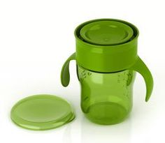 The Natural Drinking Cup 9oz Single, Green Product Shot BPA FREE