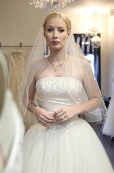 Iggy Azalea tries on wedding dresses With James Corden