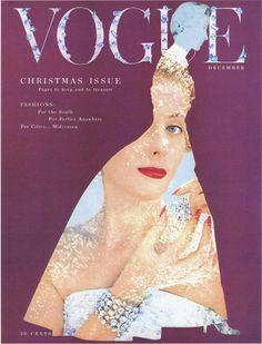 Vogue cover December 1953 - Erwin Blumenfeld.