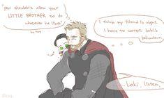 Thor & Loki :3 || 1/4 || Cre: @Alexa_520