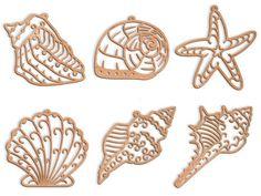 Scroll Saw Pattern: sea shells