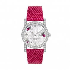 "Chaumet - Montre Femme - Collection ""Attrape-moi ... si tu m'aimes"" - Or Gris et Diamants - Nacre, Rubis - 2013"
