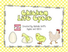 This is a life cycle of a chick unit to use in the primary grades.  I focused on the 4 stages of the life cycle: egg, hatching, chick, and chicken.Included in this unit are:Pgs 3-6: ordering the life cycle: three different sheets (two cut and paste, and one drawing independently)Pgs. 7-9: Describing sheets: hen, chicken, chickPgs. 10-12: Can, have, is sheets: hen, chicken chickPg. 13: label matching: hen and nestPg. 14: Compare and contrast a bird and chickenPg. 15: vocabulary matchingPgs…